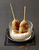 Cajun chicken brochettes