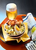 Germany :Potato,mild gherkin,bacon and hard-boiled egg salad