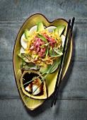 Raw beef and papaya Thai salad