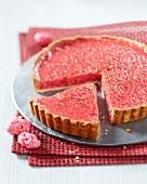 Pink praline pie