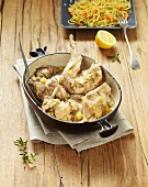 Rabbit with lemon, thyme and rosemary