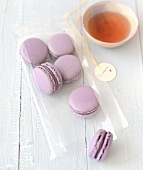 Blackberry-violet macaroons