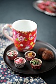 Small paper cup truffles