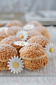 Almond-flavored cream puffs