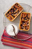 Individual mixed berry pies