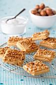 Square hazelnut crunchies