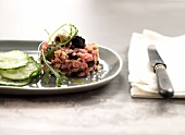 Veal and two olive tartare