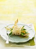 Vegetarian fine almond galette roll