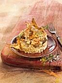 Rice and mushroom Timbale