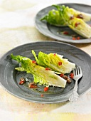 Lettuce hearts with anchovies