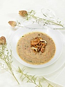 Asian-style mushroom soup
