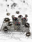 Halloween chocolate cupcakes and truffles