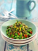Lentil and pea salad