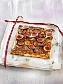 Autumn fruit flaky pastry tart