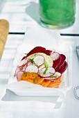 Raw vegetable carpaccio