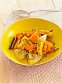 Simmered autumn vegetables