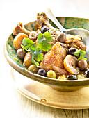 Chicken, confit citrus and olive Tajine