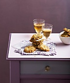 Oatmeal and Salers savoury cookies