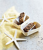 Prune, almond paste and linseed bars