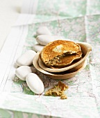 Buckwheat and honey pancakes