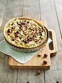 Swisschard, hazelnut and feta savoury pie
