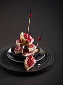 Roquefort cream and coppa bites