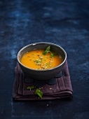 Cold carrot soup with cumin seeds
