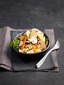 Mushroom and mimolette salad with herbs
