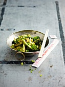 Chinese-style sauteed broccolis