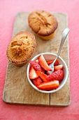 Buckwheat Financiers and organic strawberries from Plouay