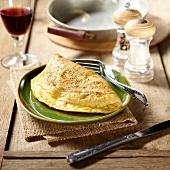 Plain folded omelette