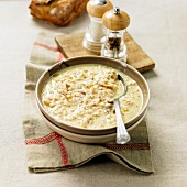Soupe panade (Brotsuppe mit Ei)