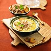 Wildkaninchensuppe mit Curry