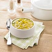 Leek-potato soup