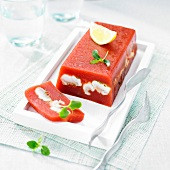 Tomato and eel terrine