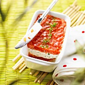 Tomato and cream cheese terrine