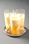 Vanilla-peach milkshake