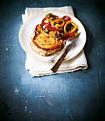 Pork chop with cumin and soft peppers