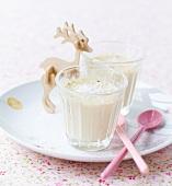 Vanilla-coconut blancmange