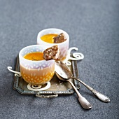 Cream of butternut soup with pan-fried foie gras