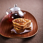 Chestnut cream toasted sandwiches