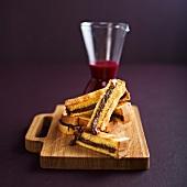 Brioche and Nutella toasted sandwiches
