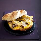Artichoke and mackerel burger