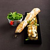 Zucchini-mozzarella panini