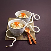 Cauliflower puree with salmon roe