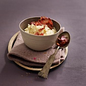 Parsnip puree with bacon