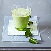 Green cactus smoothie