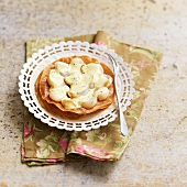 Scallop and creamy curry sauce in a crisp pastry casing