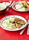 Fried fish and mashed potatoes