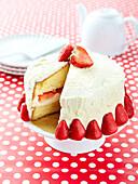 Iced strawberry cake
